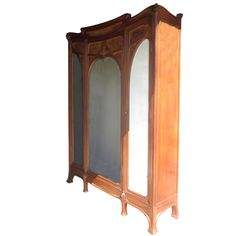 Monumental Art Nouveau Wardrobe | From a unique collection of antique and modern wardrobes and armoires at http://www.1stdibs.com/furniture/storage-case-pieces/wardrobes-armoires/