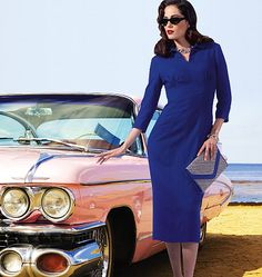 The newest Butterick retro pattern!  (Also available as a full-skirted dress.)