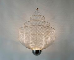 atelier rick tegelaar layers meshmatics chandelier for dutch design week