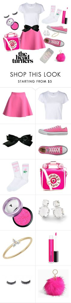 """""""head turner"""" by grace-buerklin ❤ liked on Polyvore featuring MSGM, RE/DONE, Chanel, Converse, Yeah Bunny, Betsey Johnson, Ippolita, EF Collection, MAC Cosmetics and Luxie"""