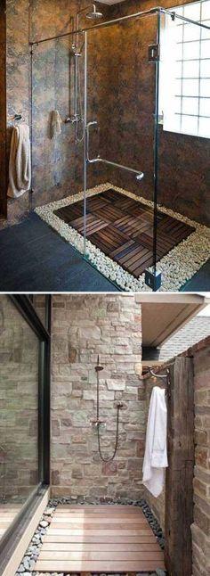 Beautiful pictures of pallet wood floor: ideas, projects & tutorials. #smallbathroomremodeling #bathroomremodeling