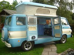 1968 Dodge A100 Camper van - has dodge  lost their flare. I would buy a fn dodge van today if it could do this