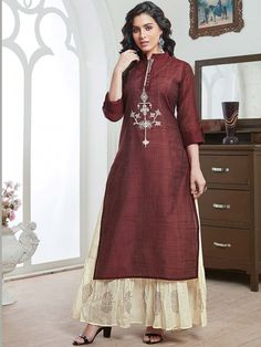 Maroon Color Cotton Festive Wear Kurti, Designer Straight cut kurti for casual wear, designer kurti for office wear, designer kurti for occasion, designer kurti for festive, designer cotton kurti, new cotton designer kurtis collection, fresh designer kurtis collection,Summer collection designer kurtis, Winter designer kurtis collection, latest designer kurtis 2019, designer straight cut kurtis for casual wear