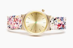 THIS Is How To Dress At Work #refinery29  http://www.refinery29.com/stylish-work-outfits#slide9  This quirky, paint-splatter watch is ideal for creative types.