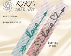 Bead loom pattern pattern loom bracelet pattern for the etsy Bead Embroidery Patterns, Seed Bead Patterns, Weaving Patterns, Jewelry Patterns, Jewelry Ideas, Knitting Patterns, Mosaic Patterns, Color Patterns, Crochet Patterns