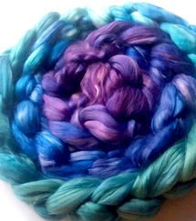 $19.75 currently on sale - normally $23.75! Gorgeous hand dyed milk fiber with a silky sheen.