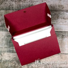 Note Card Gift Box with Video Tutorial - The Paper Pixie Diy Note Cards, Diy Card Box, Gift Card Boxes, Paper Gift Box, Paper Gifts, Paper Boxes, Paper Craft, Craft Cards, Pixie