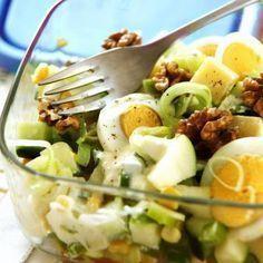 Aardappelsalade met ei en kaas