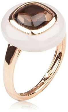 Antonini Portocervo Ring Smoky quartz and white agate