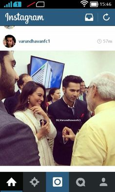 Some day I wish to meet these two men Mr Narendra modi man I am so inspired by and varun dhawan one whom I adore :)