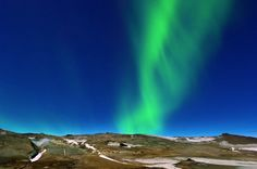 Iceland's Glowing Northern Sky. Seeing the Northern Lights is on our bucket list.