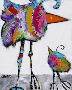 "Jenny Foster - Painting Colorful Characters 24""x16"" acrylic & oil 