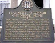Built in Savannah's Historic Flannery O'Connor Childhood Home was the birthplace and childhood home of Flannery O'Connor, one of the country's oustanding writers. Visit Savannah, Savannah Chat, Connor Homes, Lafayette Square, Historic Savannah, Antebellum Homes, One Story Homes, Pine Floors, Catholic School