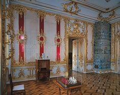 Salle Framboise (9) - Palais Catherine -  Tsarskoie Selo - Réalisée par Bartoloméo Rastrelli.