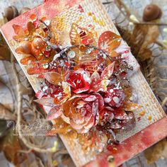 Here's Victoria's gorgeous card for our World Cardmaking Day Blog Hop! Inspired by Autumn she's used Heartthrob embossing glitter for the reds and golds and added glorious texture with Clear Ultra High  there's still a chance to enter the giveaway visit the WOW Blog for more info