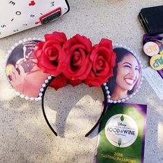 One preorder pair in my shop. Only with roses no red sequin bow! Selena Quintanilla Perez, Selena Quintanilla Birthday, Mickey Mouse Ears, Disney Ears, Disney Diy, Disney Mickey, Selena Costume, Selena Pictures, Disneyland Ideas