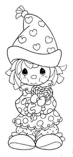 Fun Coloring Pages: Clown Valentine's day