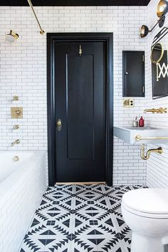 More Than Black & White - 16 Times Tile Made The Room - Photos