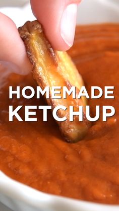 Homemade ketchup is a must make. It's so simple, flavorful and easy to spice up or change up based on what you love.