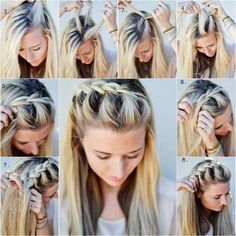 How to DIY Half-Up Side French Braid Hairstyle | iCreativeIdeas.com Like Us on Facebook ==> https://www.facebook.com/icreativeideas