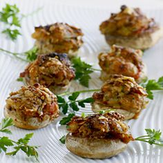 Use leftover stuffing from Thanksgiving to make stuffed mushroom appetizers
