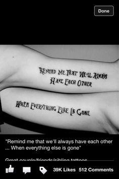 Siblings, mom and me, or s/o tattoo