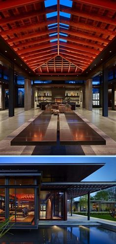 Spectacular ceiling design? Unfortunately, we couldn't find enough images of this home to create an album. The home was designed by Olson Kundig Architects of Seattle.