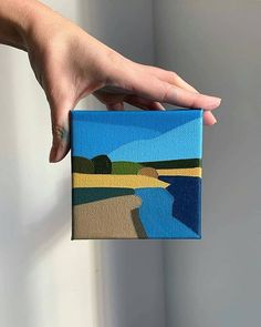 Stunning geometric landscapes paintings by What a cool style! What… Stunning geometric landscapes paintings by What a cool style! Small Canvas Art, Mini Canvas Art, Landscape Art, Landscape Paintings, Landscape Pictures, Art Mini Toile, Academic Art, Small Paintings, Art Club