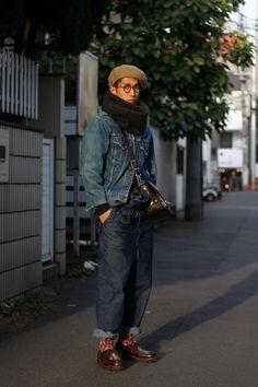 ストリートスナップ原宿 - Tankuさん - Paraboot, used, Varde77, パラブーツ, 古着