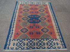 Vintage Kelim Teppich Tapis Kilim, Turkse textiel Flat weven tapijt, mooie wol Kilim tapijt, zeer mooi Design en Turkse tapijt, Kilim Rug 5.5 x 3.8 voeten
