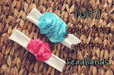 DIY Jersey Knit Headbands - soft for baby's precious head!