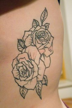 roses on rib cage love this with an elephant