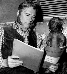 """Walter Huston with his Doxie """"Fräulein""""   #dachshund #cute #dogs www.dachshundchannel.com  www.facebook.com/dachshundchannel @indiefilmacdmy"""