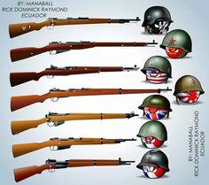 K98K, Mosin Nagant, M1 Garand, Arisaka, Lee Enfield, Carcano, MAS-36