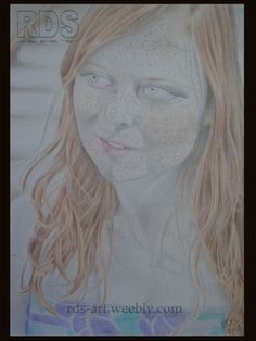 Antonia - Redhead portrait drawing http://www.rds-art.weebly.com #redhead #ginger #drawing #pencil