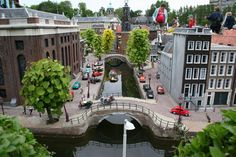 Madurodam, miniature train city to scale, Hague Holland