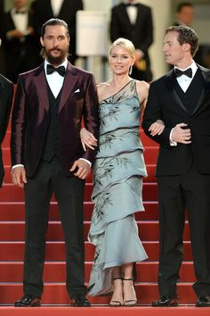 Naomi Watts (in Armani Privé) with Matthew McConaughey and Chris Sparling - Cannes Film Festival 2015: Red Carpet | Harper's Bazaar