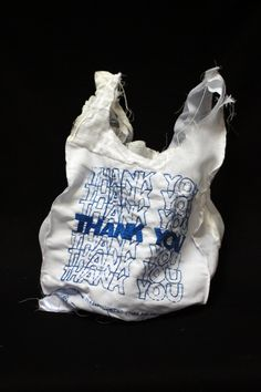 thank you bag (hand embroidery on textile by  Lauren di DiCioccio)