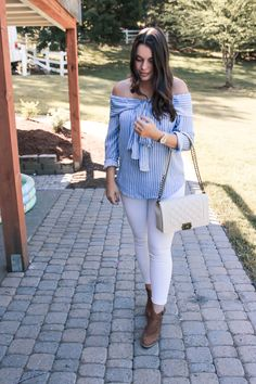 Pinstriped Tops & Quilted Bags - My Sweet Genevieve