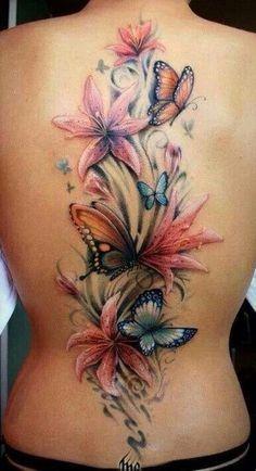 garden scene back tattoos female - Google Search
