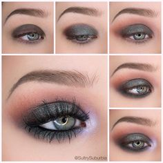 Eye Makeup Tips.Smokey Eye Makeup Tips - For a Catchy and Impressive Look Make Up Geek, Eye Make Up, Simple Eyeshadow Tutorial, Grunge Makeup Tutorial, Eyeshadow Tutorials, Make Up Tutorials, Cute Makeup, Makeup Looks, Awesome Makeup