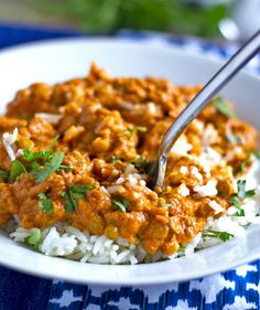 Red Curry Lentils — Pinch of Yum  I made this for my vegan daughter and s-I-l, and they raved about it...said it was restaurant quality.  It's fairly easy, and I made it early in the day and stuck it in the crock pot to keep warm.  Delicious with brown basmati rice.