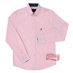 7e849e68ed Camisa Manga Longa Masculina Regular Rosa - Tassa 15477  Homens