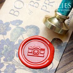 1pcs Camera Gold Plated Wax Seal Stamp by HappyJewelrySupplies, $9.80