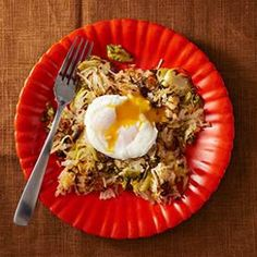 This vegetarian Brussels sprout and potato hash recipe is a quick, easy dinner, perfect for a cool fall evening.