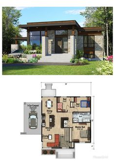 Ultra Contemporary House Plans Best Of Adorable Winning Modern Small House Plans Dream Ideas Sims House Plans, House Layout Plans, Dream House Plans, House Layouts, Small House Plans, House Floor Plans, Bungalow House Design, Tiny House Design, Modern House Design