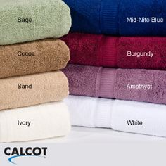 @Overstock - Update your bath with a set of four Calcot bath towels. Crafted by a cotton cooperative that provides a sustainable livelihood for American cotton growers, these bath towels feature 100-percent supima cotton loop zero-twist construction.http://www.overstock.com/Bedding-Bath/Calcot-600-GSM-Supima-Cotton-Zero-Twist-Bath-Towels-Set-of-4/6625211/product.html?CID=214117 $52.99