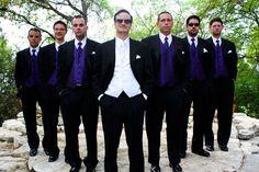 ideas for a purple wedding color palette Groomsmen Attire Purple, Groom And Groomsmen, Groomsman Attire, Wedding Pics, Wedding Party Dresses, Dream Wedding, Wedding Ideas, Purple Wedding Decorations, Wedding Colors