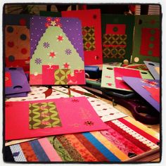 construction paper christmas cards