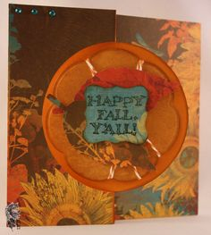 Flip card using a Sizzix flip card die and Bo Bunny Forever Fall papers